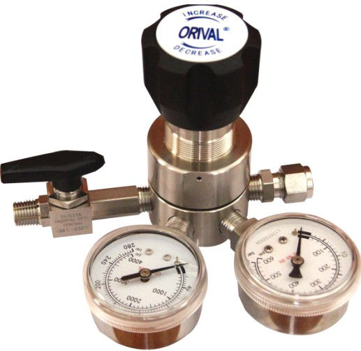 or1系列不锈钢减压器,单级式膜片减压结构,不锈钢膜片压力传输,输出压